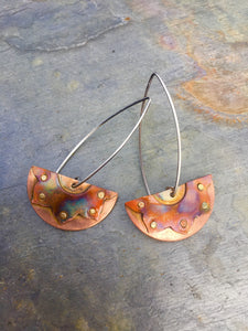 Summer Solstice Sunshine Earrings HAND SAWN ONE OF A KIND PAIR