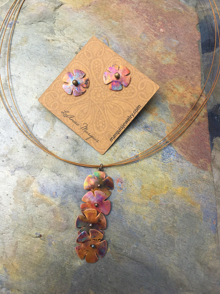 Wildflower Post Jacket Earrings