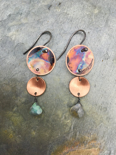 Three Tier with Labradorite Earrings (small) Show Favorites