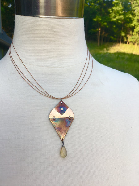 Summer Solstice Sunset Necklace