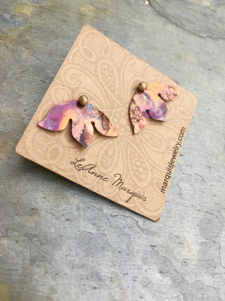 Lotus Flower Post & Jacket Earrings