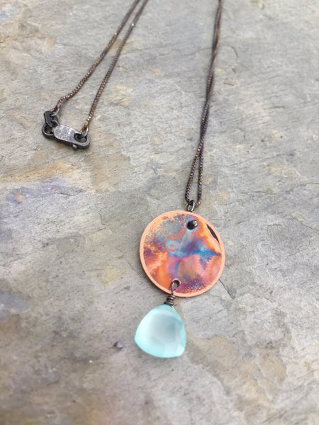 """Itty Bitty"" with Chalcedony Necklace"