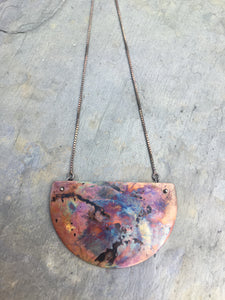 """Firepainted"" Half Moon Necklace (Large)"