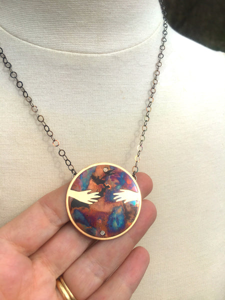 Mother Earth Pendant SIGNATURE PIECE ONE OF A KIND