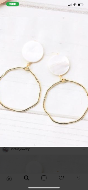 Mother of pearl hoop