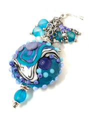 Lampwork Glass Interchangeable Beaded Pendant Necklace #2451D