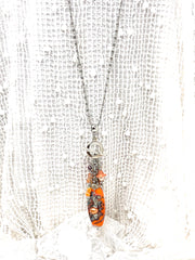 Boho Summer Beaded Chain Pendant Necklace #2689D - Bead Dangle Design
