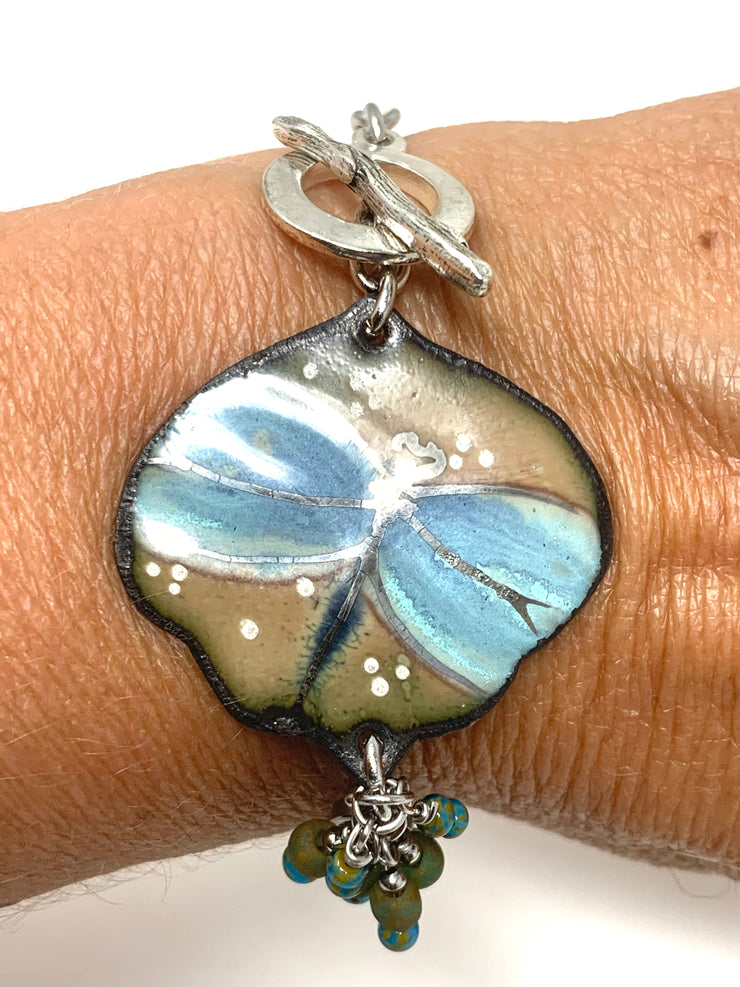 Summer Teal Dragonfly Interchangeable Dangle Bracelet Pendant #3202BC - Bead Dangle Design
