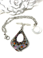 Colorful Painted Copper Enamel Interchangeable Dangle Bracelet Pendant #3095BC