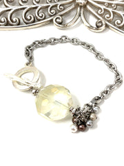 Frosted Crystal Interchangeable Beaded Dangle Bracelet #3231BC