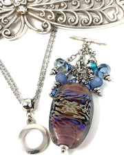 Gorgeous Handmade Lampwork Glass Beaded Cluster Pendant Necklace #2697D - Bead Dangle Design