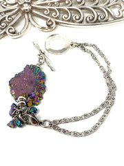 Rainbow Pyrite Interchangeable Dangle Bracelet #3211BC - Bead Dangle Design