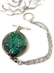 Ceramic Green Interchangeable Dangle Bracelet Pendant #3104BC - Bead Dangle Design