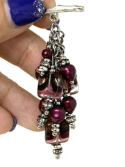 Baroque Swarovski Pearl and Czech Glass Beaded Pendant #2173D