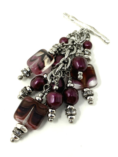 Baroque Swarovski Pearl and Czech Glass Beaded Pendant #2173D - Bead Dangle Design