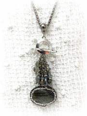 Layered Stainless Steel Beaded Necklace