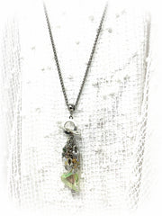 Dragonfly Beaded Toggle Pendant Necklace #1554D, Pendant, Bead Dangle Design - Bead Dangle Design