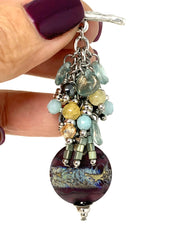 Lampwork Glass Beaded Dangle Pendant #2347D