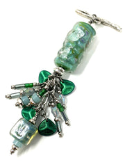 Lampwork Glass Beaded Dangle Pendant #2357D - Bead Dangle Design