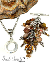 Copper Beaded Cluster Pendant #2361D - Bead Dangle Design