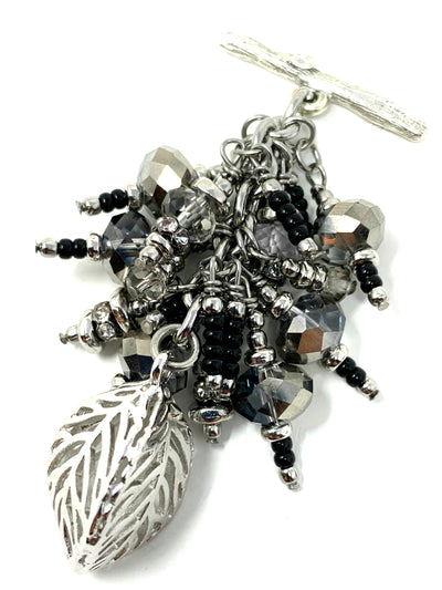 Faceted Crystal Beaded Cluster Dangle Pendant #2480D