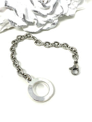 Stainless Steel Bracelet Chain #120BC - Bead Dangle Design