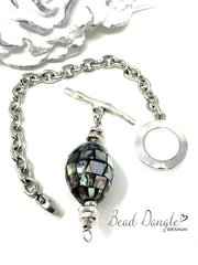 Stainless Steel Fine Station Chain #117C,- Bead Dangle Design