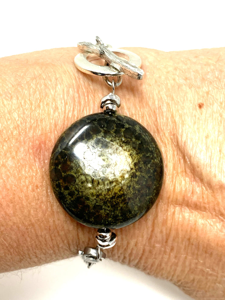 Earthy Agate Interchangeable Bracelet Pendant #3022BC - Bead Dangle Design