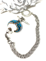 Lampwork Glass Interchangeable Bracelet Pendant #3028BC