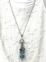 Seed Bead Pendant Necklace #1072D