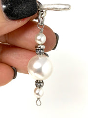 Swarovski Pearl and Crystal Interchangeable Bracelet Pendant #3035BC - Bead Dangle Design