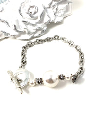Swarovski Pearl and Crystal Interchangeable Bracelet Pendant #3035BC