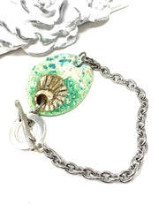 Polymer Clay Beachy Seashell Interchangeable Bracelet Pendant #3038BC - Bead Dangle Design