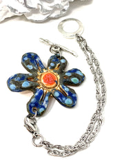 Polymer Clay Boho Chic Daisy Interchangeable Bracelet Pendant #3048BC - Bead Dangle Design