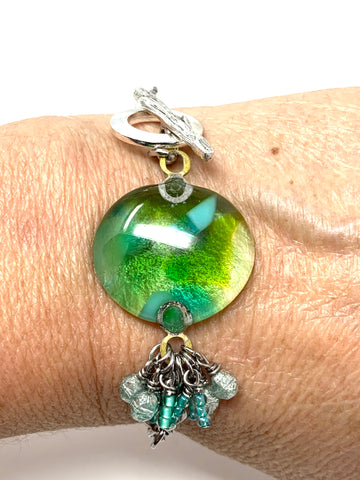 Lampwork Glass Beaded Pendant #1125D