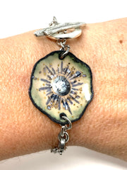 Hand Painted Enamel Interchangeable Dangle Bracelet Pendant #3062BC - Bead Dangle Design