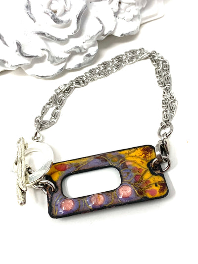 Hand Painted Enamel Interchangeable Dangle Bracelet Pendant #3071BC - Bead Dangle Design