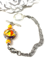 Sunny Summer Lampwork Glass Interchangeable Dangle Bracelet Pendant #3084BC - Bead Dangle Design
