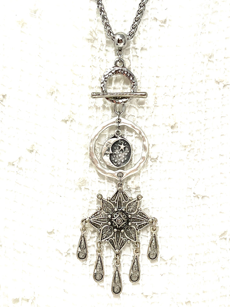 Tourmaline Beaded Dangle Earrings #918E - Bead Dangle Design