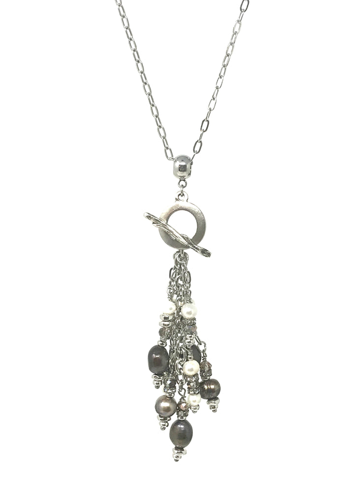 Stainless Steel Cross Chain #114C - Bead Dangle Design