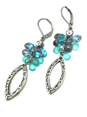 Beaded Earrings #603E, Earrings, Bead Dangle Design - Bead Dangle Design