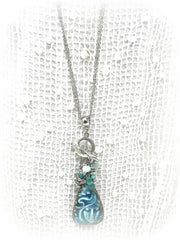 Beautiful Angel Beaded Pendant Necklace #2008D