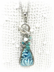 Beautiful Angel Beaded Pendant Necklace #2008D - Bead Dangle Design