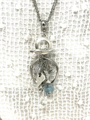 Lampwork Glass and Faceted Crystal Charm Beaded Pendant #2113D - Bead Dangle Design