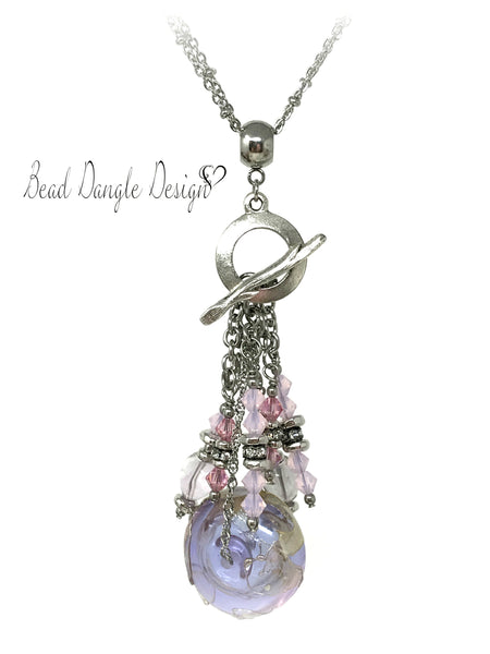 Gorgeous Lampwork Glass Interchangeable Beaded Necklace #1736D