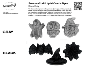 PremiumCraft Liquid Candle Dye Concentrate Black/Gray