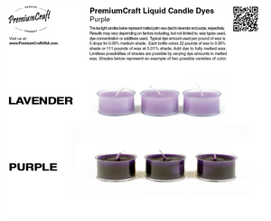 PremiumCraft Liquid Candle Dye Concentrate Puple