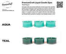 Load image into Gallery viewer, PremiumCraft Liquid Candle Dye Concentrate Teal/Aqua
