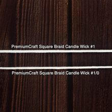 Load image into Gallery viewer, PremiumCraft Square Braid Cotton Candle Wick #1/0