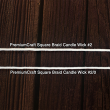 Load image into Gallery viewer, PremiumCraft Square Braid Cotton Candle Wick #2/0